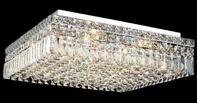 Elegant Lighting 2032f20c Ec Crystal Maxime Square Flush
