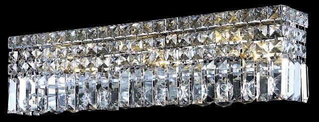 Elegant Lighting 2032w26c Ec Crystal Maxime 26 In Vanity Light Lighting 2032w26c
