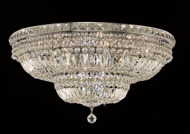 Elegant Lighting 2528f30cec Crystal Tranquil Large Flush Mount