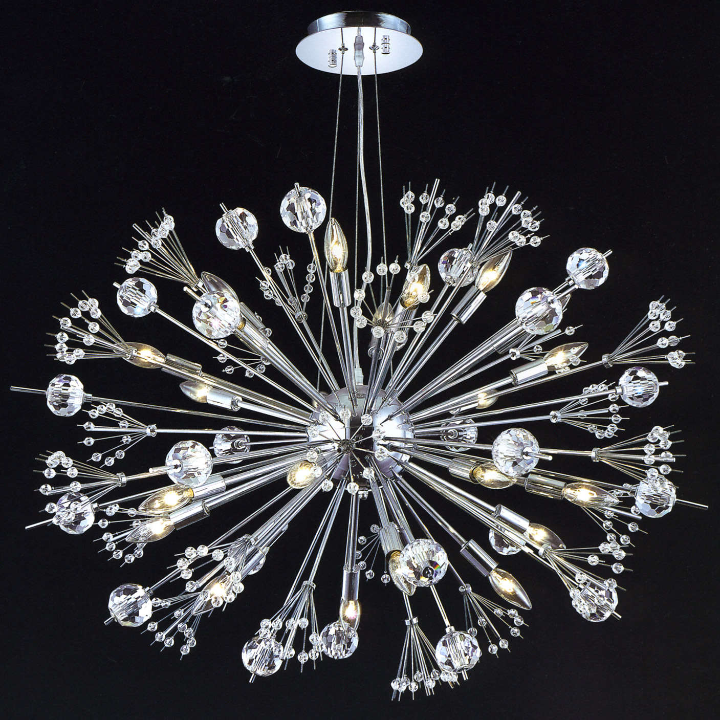 Elegant Lighting 3400d36c Ec Crystal Cyclone Chandelier