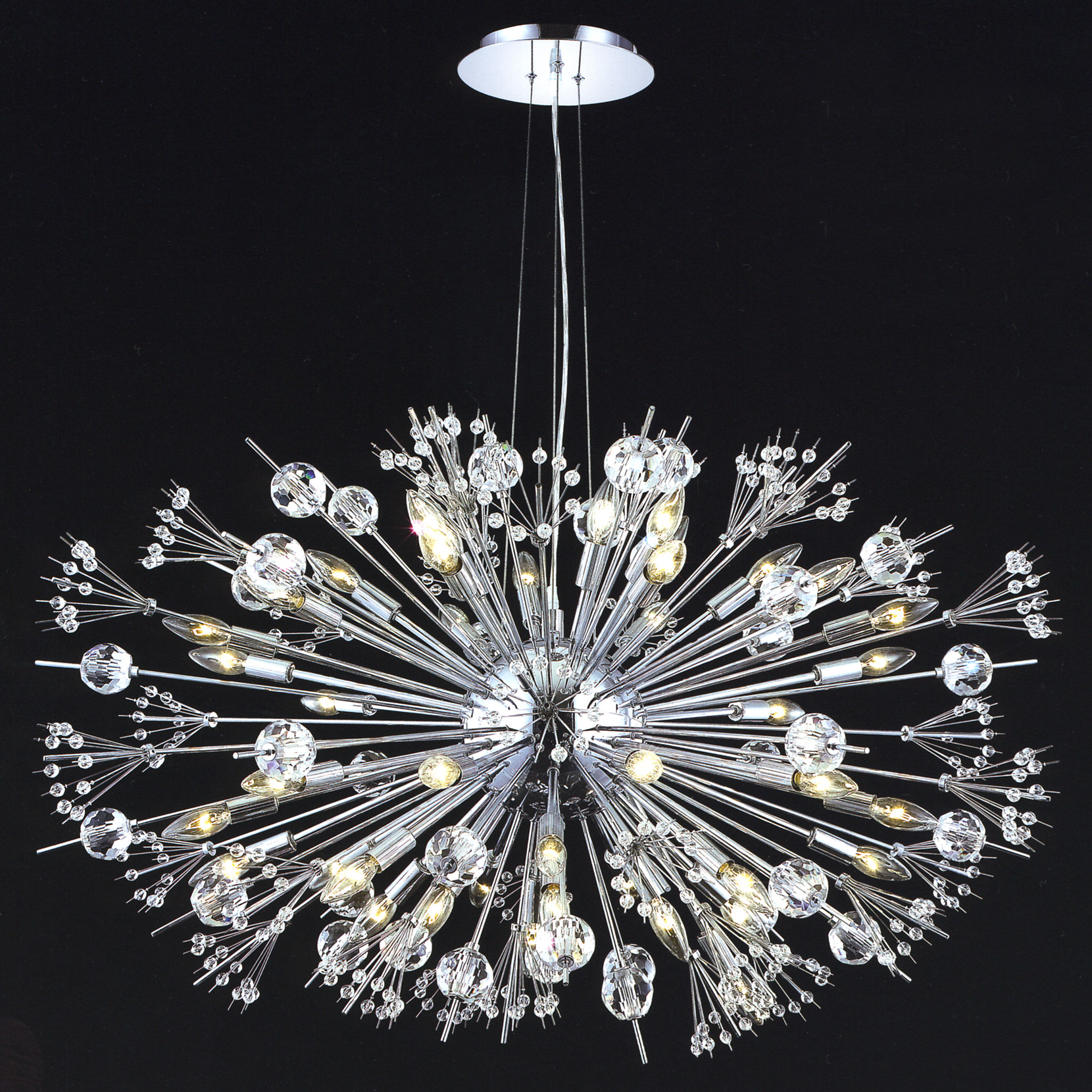 Elegant Lighting 3400g46c Ec Crystal Cyclone Chandelier