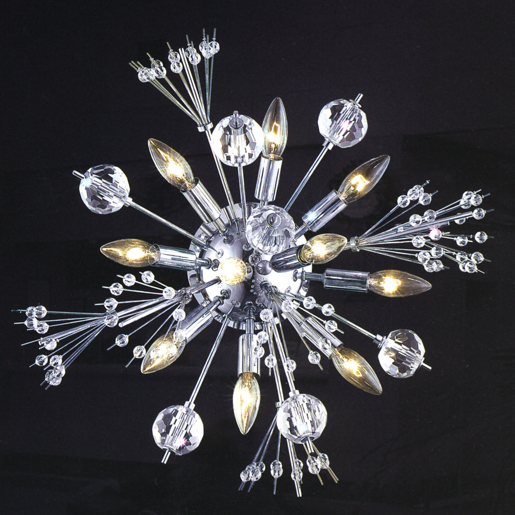 Elegant Crystal Wall Sconces : Elegant Lighting 3400W20C/EC Crystal Cyclone Wall Sconce