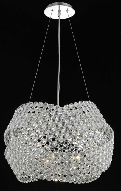 Elegant Lighting 9803d20c Ec Crystal Electron Pendant