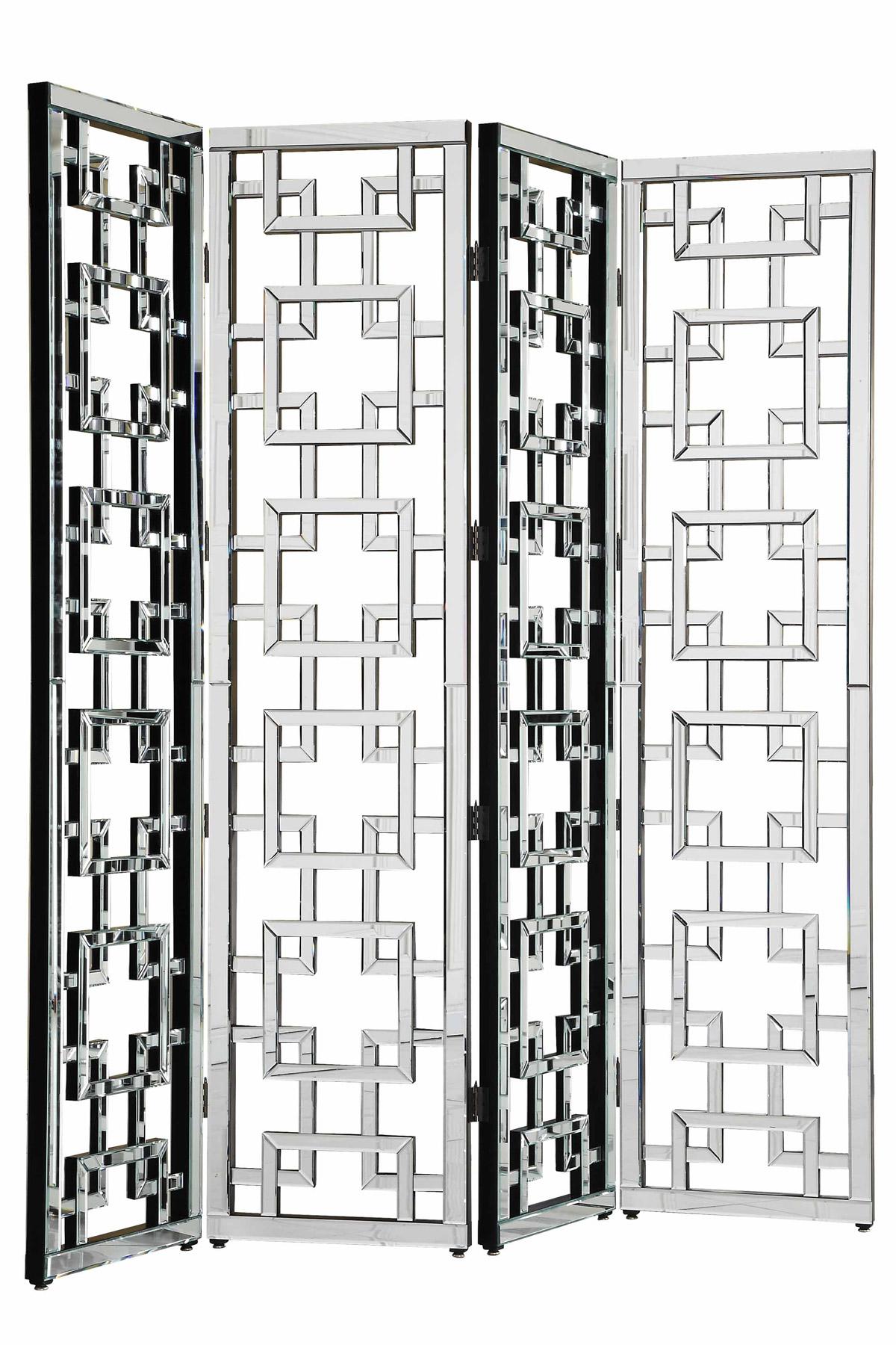 Elegant lighting mf 3015c modern segmented mirror room divider