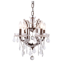 Elegant Lighting 1138D13RI/RC Crystal Elena Mini Chandelier Pendant - (Clear)