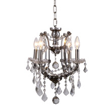 Elegant Lighting 1138D13RS/RC Crystal Elena Mini Chandelier Pendant - (Clear)