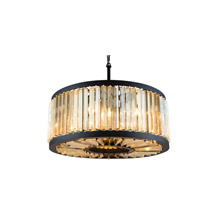 Elegant Lighting 1203D28MB-GT/RC Crystal Chelsea Pendant - Golden Teak (Smoky)