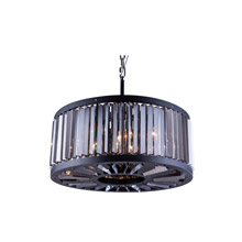 Elegant Lighting 1203D28MB-SS/RC Crystal Chelsea Pendant - Silver Shade (Grey)