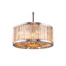 Elegant Lighting 1203D28PN-GT/RC Crystal Chelsea Pendant - Golden Teak (Smoky)
