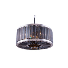 Elegant Lighting 1203D28PN-SS/RC Crystal Chelsea Pendant - Silver Shade (Grey)