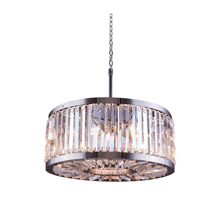 Elegant Lighting 1203D28PN/RC Crystal Chelsea Pendant - (Clear)
