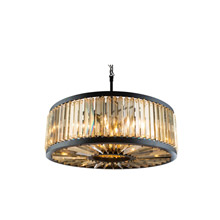 Elegant Lighting 1203D35MB-GT/RC Crystal Chelsea Large Pendant - Golden Teak (Smoky)