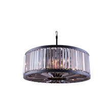 Elegant Lighting 1203D35MB-SS/RC Crystal Chelsea Large Pendant - Silver Shade (Grey)