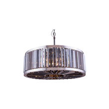 Elegant Lighting 1203D35PN-SS/RC Crystal Chelsea Large Pendant - Silver Shade (Grey)