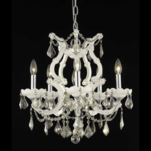 Elegant Lighting 2800D20WH-GT/RC Crystal Maria Theresa Chandelier - Golden Teak (Smoky)
