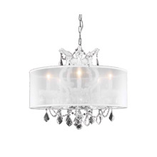 Elegant Lighting 2800D20WH/EC Crystal Maria Theresa Chandelier - (Clear)