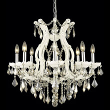 Elegant Lighting 2800D26WH-GT/RC Crystal Maria Theresa Chandelier - Golden Teak (Smoky)