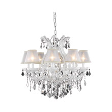 Elegant Lighting 2800D26WH/EC Crystal Maria Theresa Chandelier - (Clear)