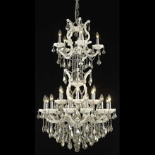 Elegant Lighting 2800D30SWH-GT/RC Crystal Maria Theresa Chandelier - Golden Teak (Smoky)