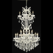 Elegant Lighting 2800D30SWH/EC Crystal Maria Theresa Chandelier - (Clear)