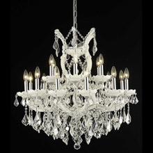 Elegant Lighting 2800D30WH/EC Crystal Maria Theresa Chandelier - (Clear)