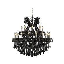 Elegant Lighting 2800D36B-JT/RC Crystal Maria Theresa Chandelier - Jet (Black)