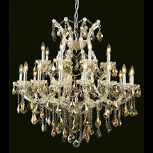 Elegant Lighting 2800D36C-GT/RC Crystal Maria Theresa Chandelier - Golden Teak (Smoky)