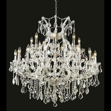 Elegant Lighting 2800D36C/EC Crystal Maria Theresa Chandelier - (Clear)