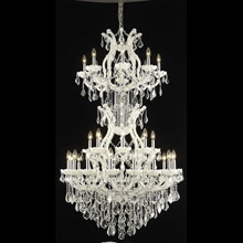 Elegant Lighting 2800D36SWH/EC Crystal Maria Theresa Chandelier - (Clear)