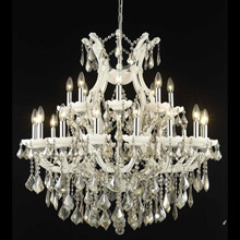 Elegant Lighting 2800D36WH-GT/RC Crystal Maria Theresa Chandelier - Golden Teak (Smoky)