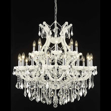 Elegant Lighting 2800D36WH/EC Crystal Maria Theresa Chandelier - (Clear)