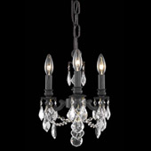 Crystal Lillie Mini Chandelier Pendant - Elegant Lighting 9103D10DB