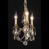 Crystal Lillie Mini Chandelier Pendant - Elegant Lighting 9103D10FG-GT