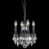 Crystal Lillie Mini Chandelier Pendant - Elegant Lighting 9104D10DB