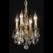 Crystal Lillie Mini Chandelier Pendant - Elegant Lighting 9104D10FG-GT