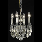 Crystal Lillie Mini Chandelier Pendant - Elegant Lighting 9104D10PW-GT