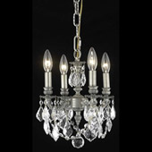 Crystal Lillie Mini Chandelier Pendant - Elegant Lighting 9104D10PW