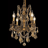 Crystal Rosalia Mini Chandelier - Elegant Lighting 9204D17FG-GT