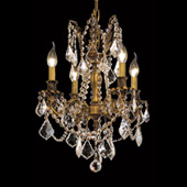 Crystal Rosalia Mini Chandelier - Elegant Lighting 9204D17FG