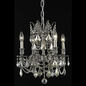 Crystal Rosalia Mini Chandelier - Elegant Lighting 9204D17PW-GT
