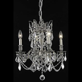 Crystal Rosalia Mini Chandelier - Elegant Lighting 9204D17PW