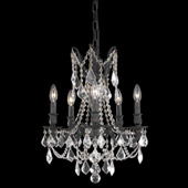 Crystal Rosalia Five Light Mini Chandelier - Elegant Lighting 9205D18DB