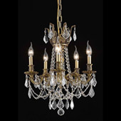 Crystal Rosalia Five Light Mini Chandelier - Elegant Lighting 9205D18FG