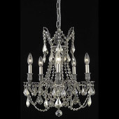 Crystal Rosalia Five Light Mini Chandelier - Elegant Lighting 9205D18PW-GT