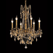 Crystal Rosalia Chandelier - Elegant Lighting 9206D23FG-GT