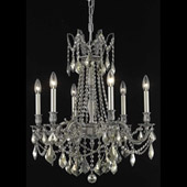 Crystal Rosalia Chandelier - Elegant Lighting 9206D23PW-GT