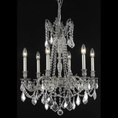 Crystal Rosalia Chandelier - Elegant Lighting 9206D23PW