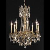 Crystal Rosalia Chandelier - Elegant Lighting 9208D24FG-GT