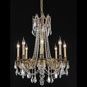 Crystal Rosalia Chandelier - Elegant Lighting 9208D24FG
