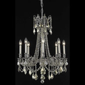 Crystal Rosalia Chandelier - Elegant Lighting 9208D24PW-GT